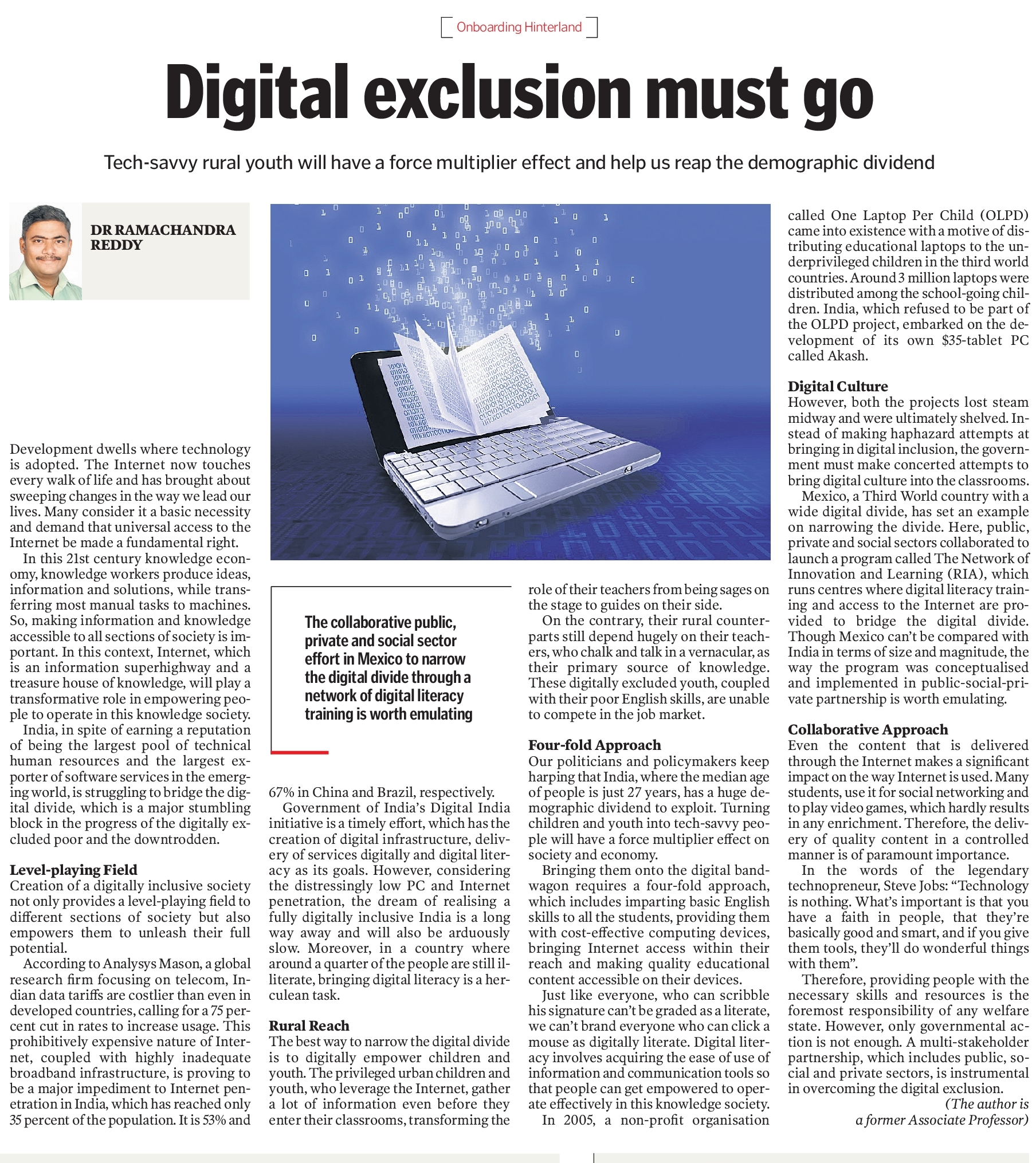 Digital exclusion must go