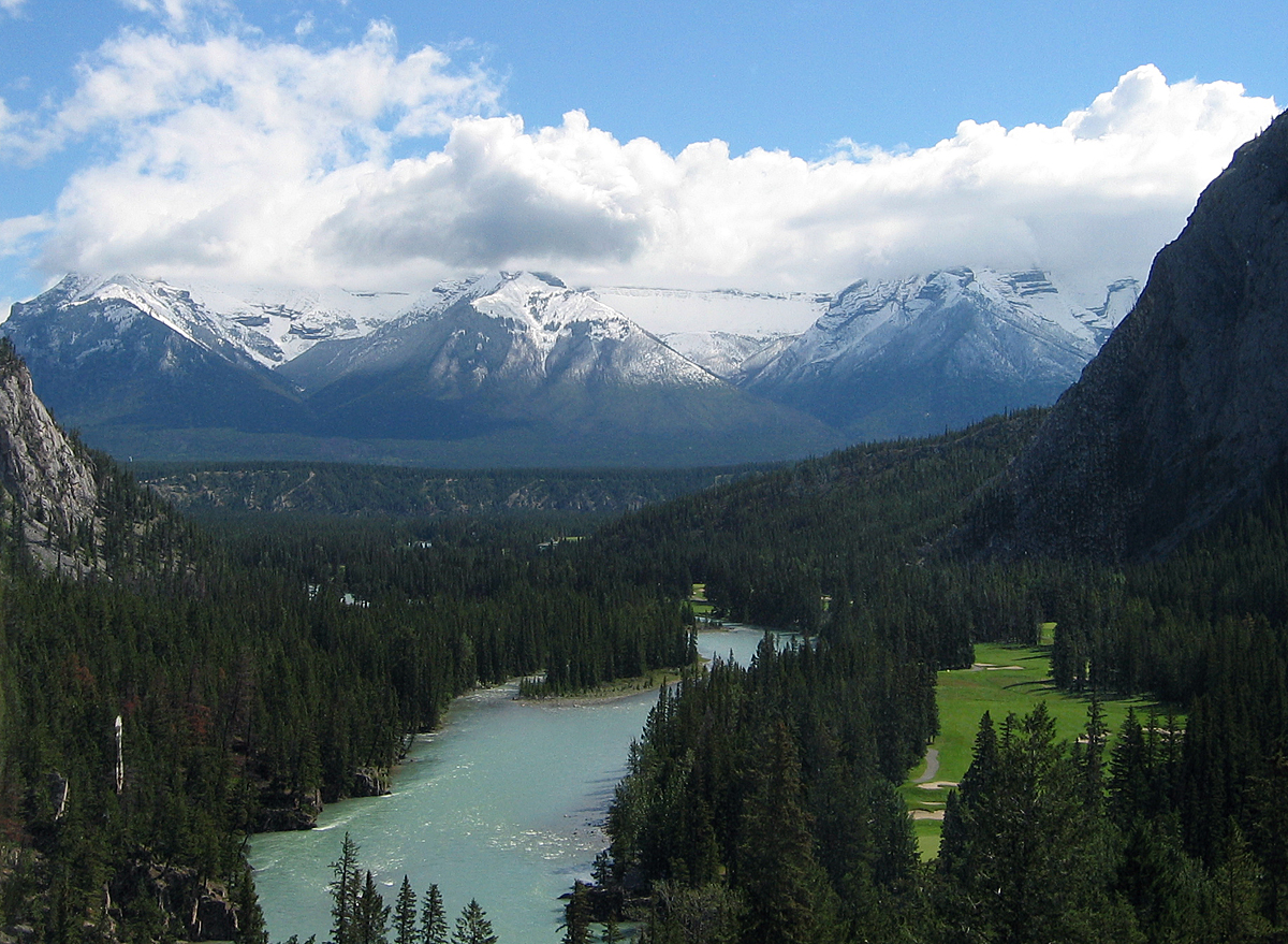 The mother nature is preserved in its pristine form at Banff National Park in Canada . Some of Vitality Air's bottled air is sourced from here.