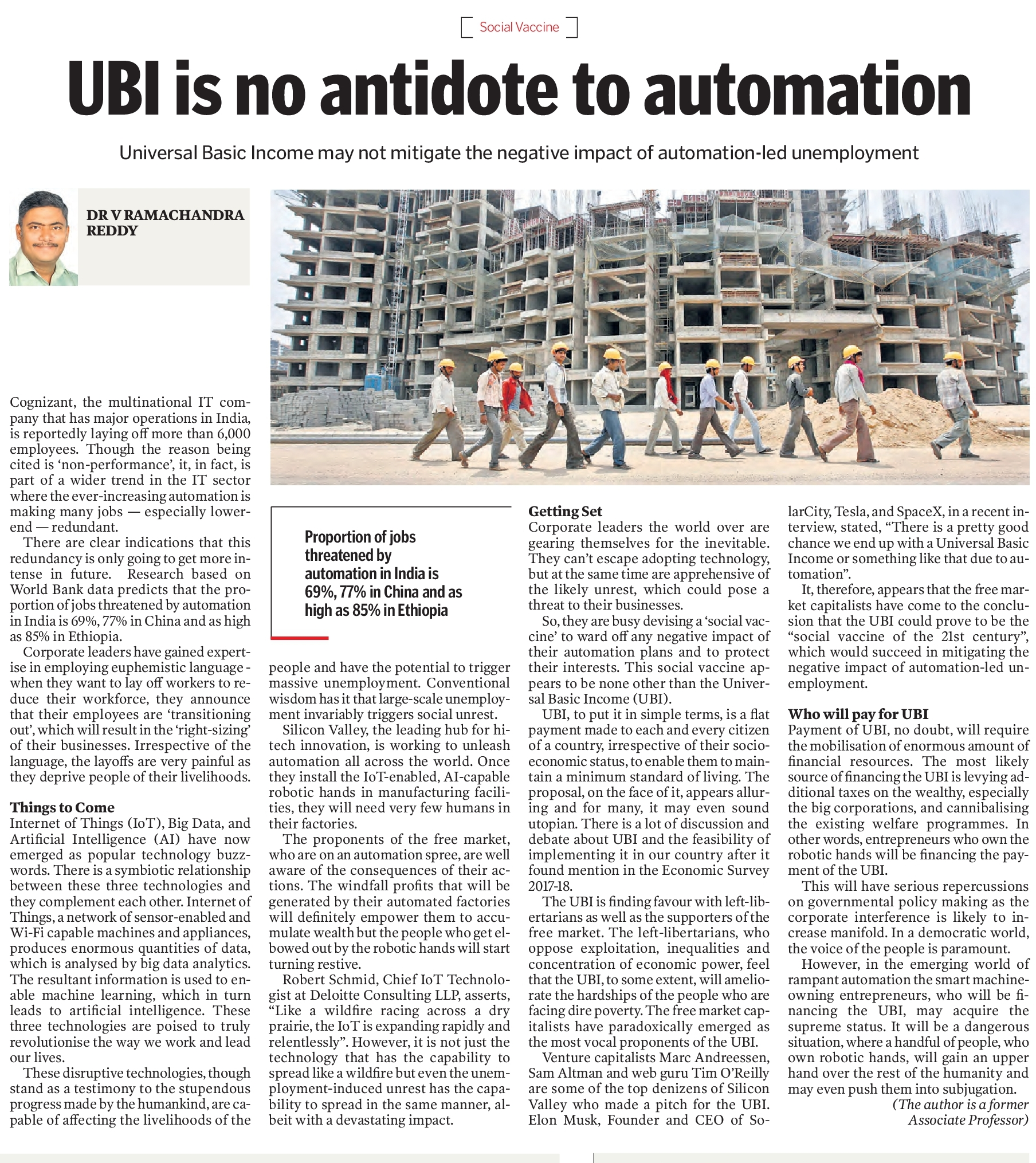 UBI is not an antidote to automation